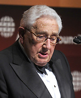 NEW YORK, NY - SEPTEMBER 26: Dr. Henry Kissinger addresses the audience during the 2013 Global Citizen Awards Ceremony on September 26, 2013 in New York City<br /> <br /> <br /> People:  Dr. Henry Kissinger<br /> <br /> Transmission Ref:  MNC1<br /> <br /> Must call if interested<br /> Michael Storms<br /> Storms Media Group Inc.<br /> 305-632-3400 - Cell<br /> 305-513-5783 - Fax<br /> MikeStorm@aol.com