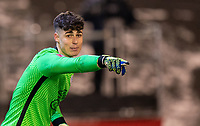 11th February 2021; Oakwell Stadium, Barnsley, Yorkshire, England; English FA Cup 5th round Football, Barnsley FC versus Chelsea; Kepa Arrizabalaga of Chelsea sends direction in to his defenders