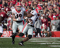 Pasadena, CA - January 1, 2018: The number 2 ranked University of Oklahoma Sooners face the number 3 ranked University of Georgia Bulldogs in the National Playoff Semifinal at the Rose Bowl.