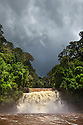 Maliau Falls on the course of the Maliau River at the center of the Maliau Basin, Sabah's 'Lost World', Sabah, Borneo, Malaysia.