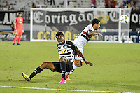 Orlando, FL - Saturday Jan. 21, 2017:  São Paulo forward W. Nem (21) turns to track the ball away from Corinthians left back Moisés (6) during the first half of the Florida Cup Championship match between São Paulo and Corinthians at Bright House Networks Stadium.