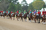 April 11, 2015: Post parade before the running of the Arkansas Derby at Oaklawn Park in Hot Springs, AR. Justin Manning/ESW/CSM