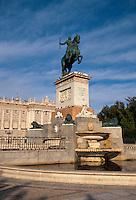 Spanien, Plaza Oriente beim Königspalast in Madrid