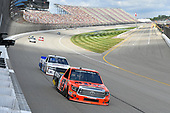 NASCAR Camping World Truck Series<br /> LTI Printing 200<br /> Michigan International Speedway, Brooklyn, MI USA<br /> Saturday 12 August 2017<br /> Cody Coughlin, Ride TV/ Jegs Toyota Tundra, Tyler Young, Randco/Young's Building Systems Chevrolet Silverado<br /> World Copyright: Logan Whitton<br /> LAT Images