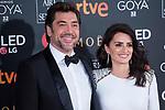 Javier Bardem and Penelope Cruz attends red carpet of Goya Cinema Awards 2018 at Madrid Marriott Auditorium in Madrid , Spain. February 03, 2018. (ALTERPHOTOS/Borja B.Hojas)