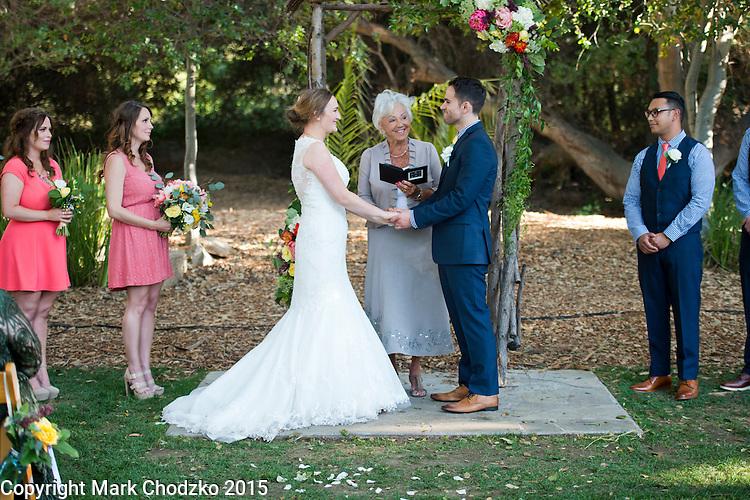 Josh and Lauren exchange vows.