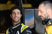 March 15, 2019: Daniel Ricciardo (AUS) talks to the managing director of the Renault F1 Team Cyril Abiteboul during practice session two at the 2019 Australian Formula One Grand Prix at Albert Park, Melbourne, Australia. Photo Sydney Low