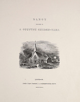 BNPS.co.uk (01202 558833)<br /> Pic: Gorringes/BNPS<br /> <br /> PICTURED: The art was found in an old poetry book - 1836 illustrated edition of poet Thomas Gray's Elegy Written in a Country Churchyard<br /> <br /> An old poetry book could sell for £150,000 after it was found to contain lost artwork from the famous Romantic landscape painter John Constable.<br /> <br /> An auctioneer was doing a routine valuation at a countryside cottage in south east England when he spotted the tome in a bookcase.<br /> <br /> He opened the 1836 illustrated edition of poet Thomas Gray's Elegy Written in a Country Churchyard and was stunned to find three watercolours by Constable fastened to pages inside, alongside a hand-written letter and ink sketch.<br /> <br /> They refer to scenes the English artist was asked to illustrate for the re-printing of the popular 1750 poem about mortality and remembrance.<br /> <br /> The lady vendor, who had no idea of the book's contents, is now selling it with auctioneers Gorringe's, of Lewes, east Sussex.