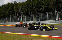 30th August 2020, Spa Francorhamps, Belgium, F1 Grand Prix of Belgium , Race Day;  3 Daniel Ricciardo AUS, Renault DP World F1 Team, 23 Alexander Albon THA, Aston Martin Red Bull Racing