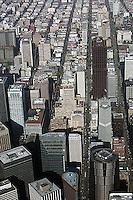 aerial photograph Pine Street San Francisco financial district