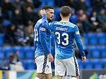 St Johnstone v St Mirren…27.10.18…   McDiarmid Park    SPFL<br />Matty Kennedy puts an arm round Tony Watt after his miss<br />Picture by Graeme Hart. <br />Copyright Perthshire Picture Agency<br />Tel: 01738 623350  Mobile: 07990 594431