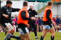 6th February 2021; Mattoli Woods Welford Road Stadium, Leicester, Midlands, England; Premiership Rugby, Leicester Tigers versus Worcester Warriors; Leicester Tigers Head Coach Steve Borthwick directs the pre-match warm-up