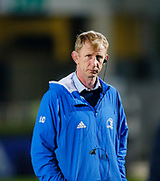 19th March 2021; RDS Arena, Dublin, Leinster, Ireland; Guinness Pro 14 Rugby, Leinster versus Ospreys; Leo Cullen Leinster head coach watches his team warm up prior to kickoff