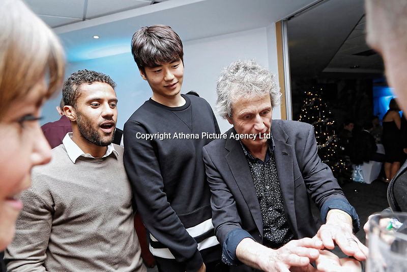Pictured: (L-R) Wayne Routledge and Ki Sung-Yueng of Swansea City <br /> Re: Swansea City FC Christmas party at the Liberty Stadium, Wales, UK. Thursday 14 December 2017