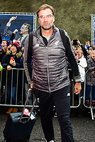 Jurgen Klopp Manager of Liverpool arriving before the Premier League match between Brighton and Hove Albion and Liverpool at the American Express Community Stadium, Brighton and Hove, England on 12 January 2019. Photo by Edward Thomas / PRiME Media Images.