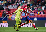 Diego Costa (R) of Atletico de Madrid fights for the ball with Damian Nicolas Suarez Suarez of Getafe CF during the La Liga 2017-18 match between Atletico de Madrid and Getafe CF at Wanda Metropolitano on January 06 2018 in Madrid, Spain. Photo by Diego Gonzalez / Power Sport Images