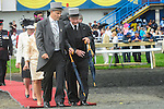 Governor General David Johnston (R) at Queen's Plate  at Woodbine Raceway in Toronto, Canada on July 07, 2013.