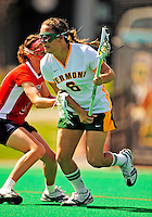 25 April 2009: University of Vermont Catamount midfielder/attackman Samantha Stern, a Freshman from Cherry Hill, NJ in action against the Stony Brook University Seawolves at Moulton Winder Field in Burlington, Vermont. The Lady Cats defeated the visiting Seawolves 19-11 on Seniors Day, Vermont's last home game of the 2009 season. Mandatory Photo Credit: Ed Wolfstein Photo
