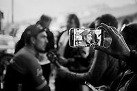 post-race interviews at the teambus for John Degenkolb (DEU/Trek-Segafredo)<br /> <br /> 108th Milano - Sanremo 2017