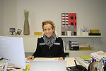 Paola Santini Marketing Manager hard at work in her office Santini Factory, Lallio, Italy. 30th September 2015.<br /> Picture: Eoin Clarke | Newsfile