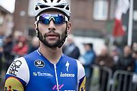 Later race winner Fernando Gaviria (COL/Quick Step Floors) pre race.<br /> <br /> 102nd Kampioenschap van Vlaanderen 2017 (UCI 1.1)<br /> Koolskamp - Koolskamp (192km)