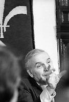 Jean Duceppe, President de la SSJB, le 15 mai 1974<br /> <br /> PHOTO : Agence Quebec Presse