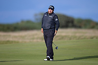 3rd October 2021; The Old Course, St Andrews Links, Fife, Scotland; European Tour, Alfred Dunhill Links Championship, Fourth round; Shane Lowry of Ireland reacts to a missed putt during the final round of the Alfred Dunhill Links Championship on the Old Course, St Andrews