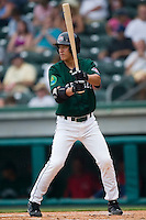 Greenville second baseman Chih-Hsien Chang (39) at bat versus West Virginia at West End Field in Greenville, SC, Sunday, July 1, 2007.