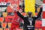 Ludwigshafens Remmlinger, Jan (Nr.19) gegen Coburgs Kulhanek, Jan  beim Spiel in der Handball Bundesliga, Die Eulen Ludwigshafen - HSC 2000 Coburg.<br /> <br /> Foto © PIX-Sportfotos *** Foto ist honorarpflichtig! *** Auf Anfrage in hoeherer Qualitaet/Aufloesung. Belegexemplar erbeten. Veroeffentlichung ausschliesslich fuer journalistisch-publizistische Zwecke. For editorial use only.