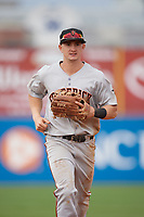 Frederick Keys third baseman Austin Hays (18) during the second game of a doubleheader against the Wilmington Blue Rocks on May 14, 2017 at Daniel S. Frawley Stadium in Wilmington, Delaware.  Wilmington defeated Frederick 3-1.  (Mike Janes/Four Seam Images)