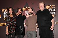 VALERIE BEGUE, ALESSANDRA SUBLET, JEREMY MICHALAK ET GUY CARLIER - 20EME FESTIVAL INTERNATIONAL DU FILM DE COMEDIE DE L'ALPE D'HUEZ 2017