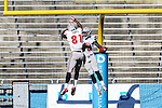 UNLV Rebels wide receiver Devante Davis (81) and UNLV Rebels wide receiver Marcus Sullivan (18) in action during the Heart of Dallas  Bowl game between the North Texas Mean Green and the UNLV Rebels at the Cotton Bowl Stadium in Dallas, Texas. UNT defeats UNLV 36 to 14.