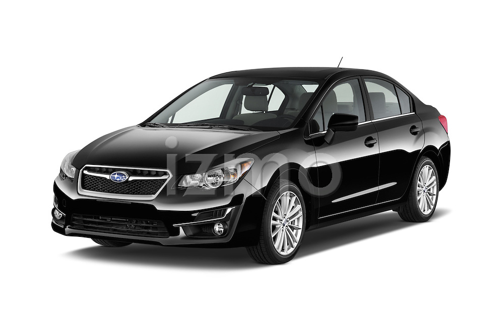 2015 Subaru Impreza premium 4 Door Sedan angular front stock photos of front three quarter view