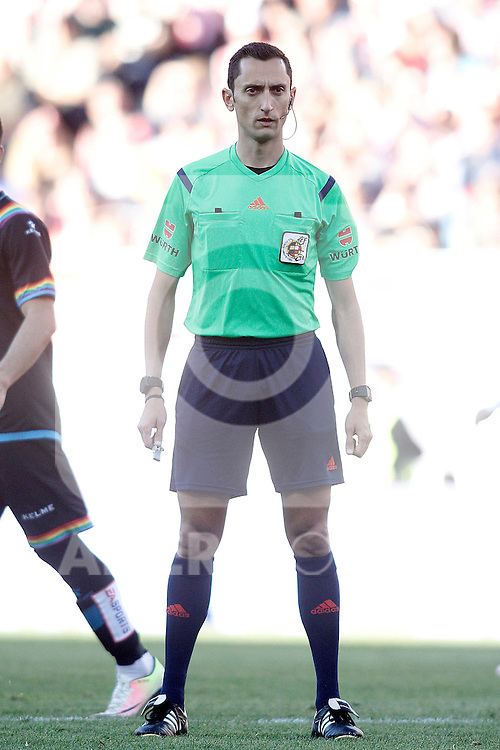 Spanish referee Sanchez Martinez during La Liga match. April 30,2016. (ALTERPHOTOS/Acero)