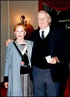 Claude Rich et sa femme - GENERALE DE EQUUS AU THEATRE MARIGNY