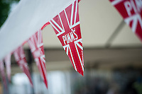 Hay on Wye, UK. Wednesday 01 June 2016<br /> Pictured:  Pimms Bunting <br /> Re: The 2016 Hay festival take place at Hay on Wye, Powys, Wales