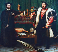 Paintings:  Hans Holbein the Younger--The Ambassadors.   National Gallery London.  Reference only.