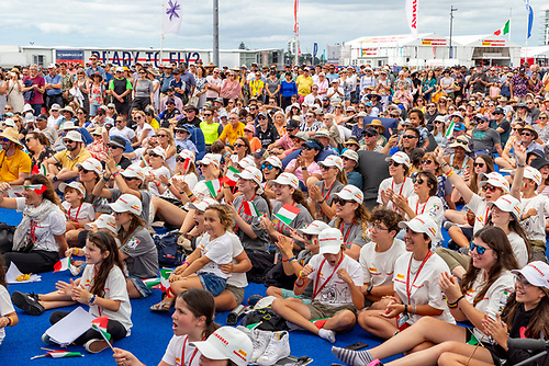 Crowds watch the Prada Cup in Auckland