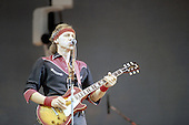 Mark knopfler perfoming with his band Dire Straits in the 1980's<br /> © David Plastik<br /> Credit all uses<br /> Retna UK