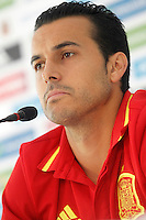 Spain's Pedro Rodriguez in press conference during preparing training stage to Euro 2016. May 30,2016.(ALTERPHOTOS/Acero) /NortePhoto.com