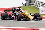 Carlos Sainz (55) of Spain in action before the Formula 1 United States Grand Prix race at the Circuit of the Americas race track in Austin,Texas.