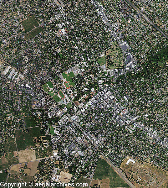 aerial photo map of Chico, Butte County, California, 2018