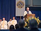 June 6, 2015; Fr. John Jenkins, C.S.C. gives the homily at the all-class Mass, Reunion 2015. (Photo by Matt Cashore/University of Notre Dame)