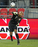 03 June 2012:  US Men's National Soccer Team goalkeeper Tim Howard #1in action during an international friendly soccer match between the United States Men's National Soccer Team and the Canadian Men's National Soccer Team at BMO Field in Toronto.