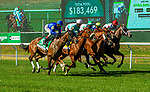 SEPT19, 2020 : Magic Attitude with Javier Castellano  aboard, wins the Grade 1 Belmont Oaks Invitational Stakes, for 3-ear old fillies, on the turf, at Belmont Park, Elmont, NY.  Sue Kawczynski/Eclipse Sportswire/CSM