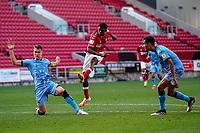 12th September 2020; Ashton Gate Stadium, Bristol, England; English Football League Championship Football, Bristol City versus Coventry City; Tyreeq Bakinson of Bristol City takes a shot at goal