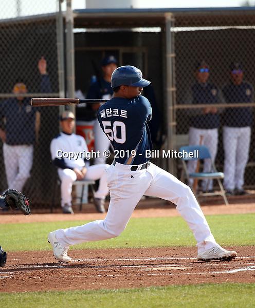 Christian Bethancourt - NC Dinos of the Korean Baseball Organization 2019 spring training (Bill Mitchell)