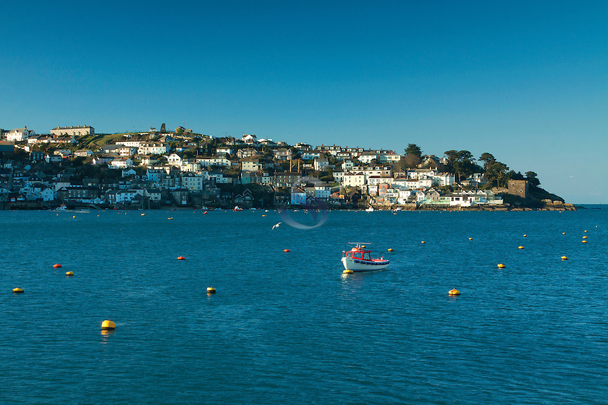 Polruan from Fowey at dawn, Cornwall