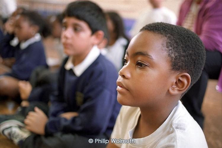 Pupils at Lancasterian Junior School in Hariongey, North London