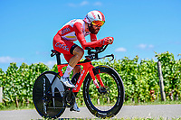 17th July 2021, St Emilian, Bordeaux, France;  GESCHKE Simon (GER) of COFIDIS during stage 20 of the 108th edition of the 2021 Tour de France cycling race, an individual time trial stage of 30,8 kms between Libourne and Saint-Emilion.